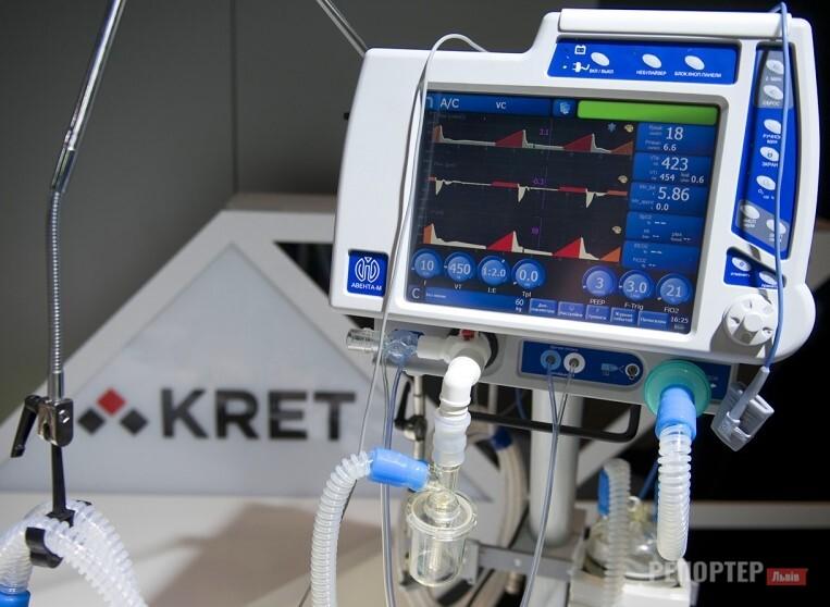 У розпорядженні львівських медиків 107 апаратів штучної вентиляції легень